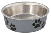 Nonslip Paw Print Stainless Steel Bowl