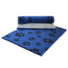 Vetfleece Non-Slip Multi Paws Blue with Charcoal Paws