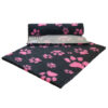 Vetfleece Non-Slip Multi Paws Charcoal with Pink Paws