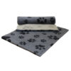 Vetfleece Non-Slip Multi Paws Grey with Charcoal Paws