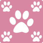 Pink with White Paws