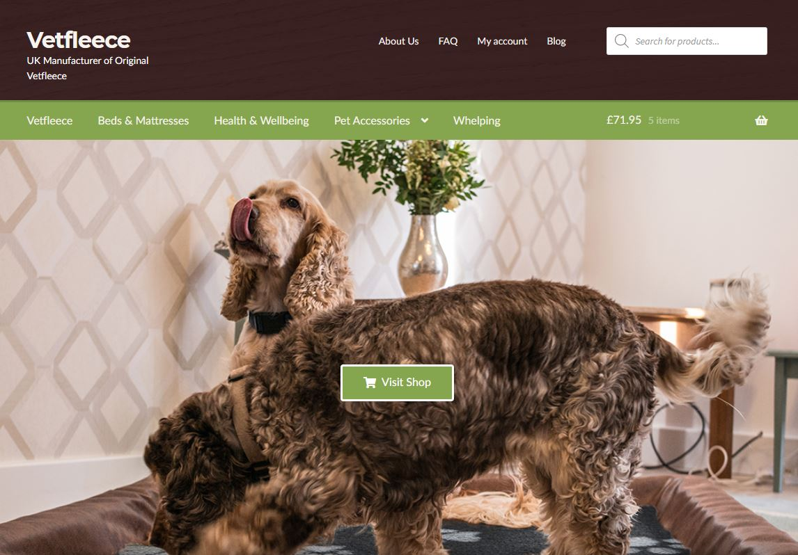 Vetfleece New Look Website