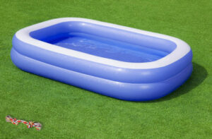 A paddling pool helps to keep your dog cool in summer